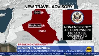U.S. State Department orders all non-emergency government employees to leave Iraq