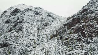 Beautiful Drone Footage of Snow Covered Arizona