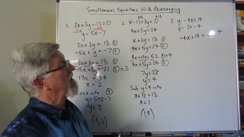 Math 2 Simultaneous Equations 04 With Rearranging First