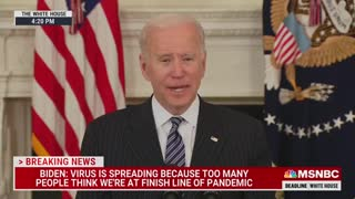 Biden Slurs Speech as He Urges Americans to Get Vaccinated Against Covid