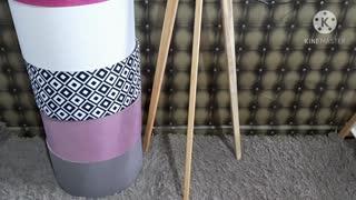 Présentation de lampadaire trépieds fabriquée en Tunisie