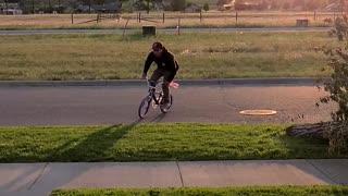Nephew busts daughters bike