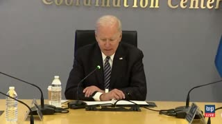 Joe Biden Gets Lost Reading His Notes During Incoherent Answer