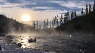 Morning Sunrise Yellowstone National Park