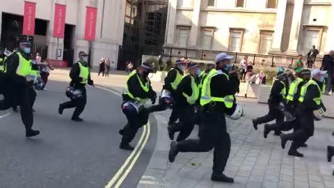 anti Coronavirus lockdown protest in central London 2