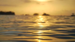 Amazing Sunset Reflecting Off Sea at Dusk