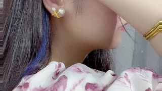 Three seconds to teach you no hole earrings, simple and fashionable