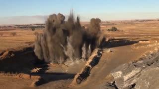 A blast inside a hole