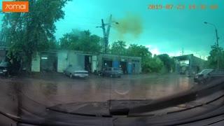 Lightning Strikes High Voltage Pole