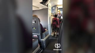 WATCH: Illegal Immigrants Filmed Boarding Plane to Be Relocated Throughout Country