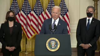 """Biden responds to question about """"dissent cable"""" from State Dept."""