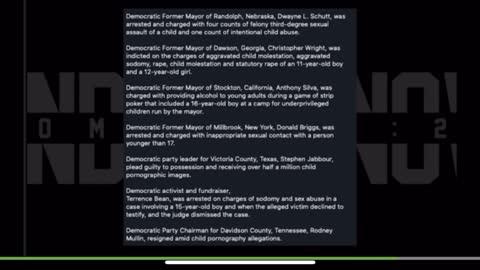 Huge List of Pedophiles Released !