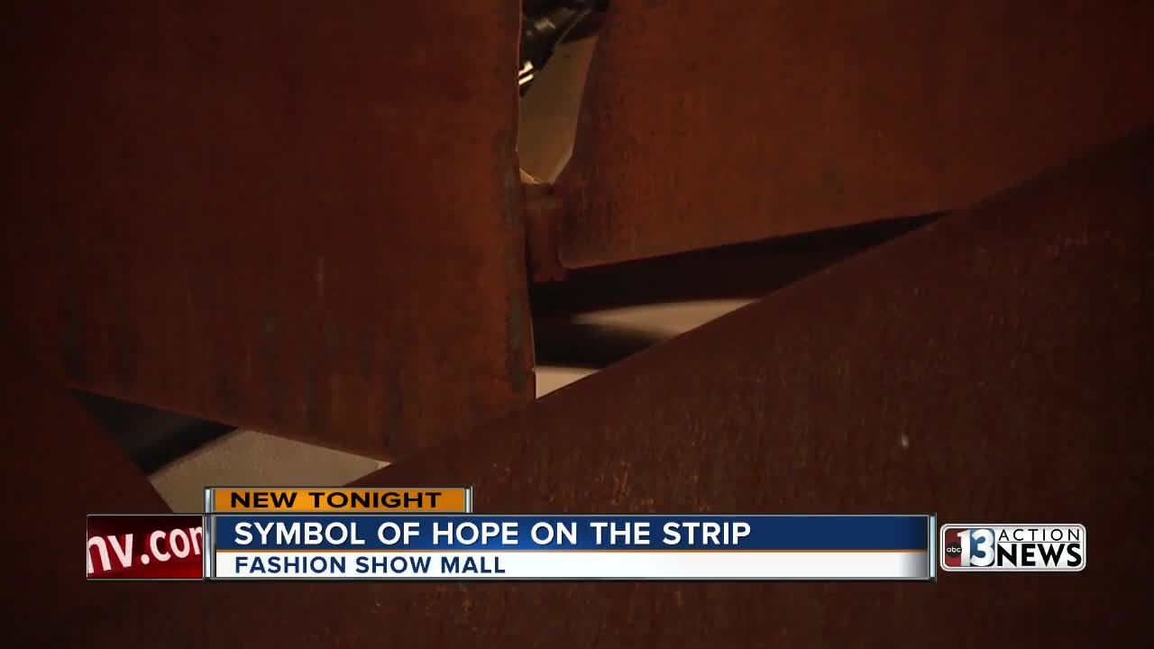 Symbol of hope placed at Fashion Show Mall