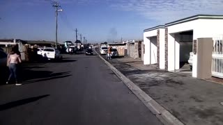 A view of the street where the Gugulethu massacre happened