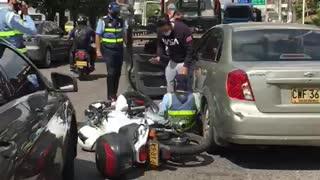 Denuncian nueva agresión a agentes de tránsito en Bucaramanga
