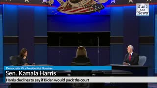 Harris declines to say if Biden would pack the Supreme Court