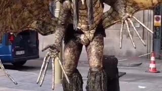 Scary Monster on La Rambla