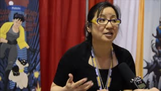 60 second video clip of an interview we did with comic book writer Amy Chu