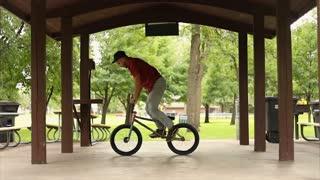 Dude Nails Incredible Kick Flip on Bike