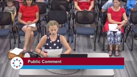 9 Year Old Student Speaks Out Against Hypocritical Woke School Board