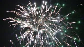 Beautiful evening fireworks