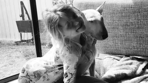Little girl and doggy best friend share special relationship