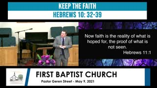 Sunday Morning Worship - May 9, 2021