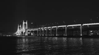 Cars Driving On Bridge On Night Day