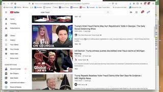 """YouTube vs Rumble on """"voter fraud"""""""