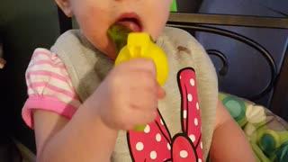 Baby Ava & Strawberries!