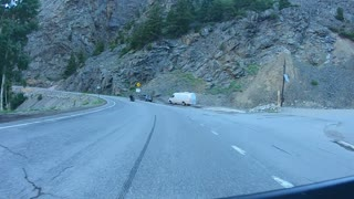 Million Dollar Highway Northbound to Ouray, CO