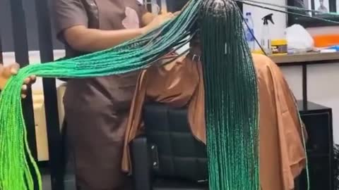 HAIR BRAIDS sweeping the floor sis