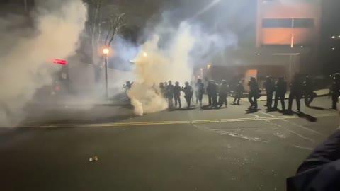 Portland Riots For Biden's Inauguration