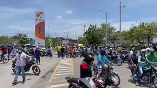 Reporte de la marcha en Cartagena