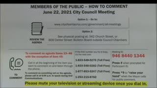 Covid Rant zoom Santa Cruz city council