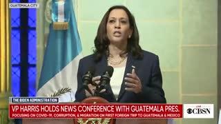 "NEW - Kamala Harris to Guatemala migrants: ""Do not come"