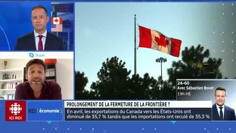Les frontières entre le Québec et l'Ontario fermées /the borders between quebec and ontario closed