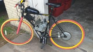 Motorized bicycle build
