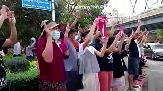 Tens of thousands rally against Myanmar coup