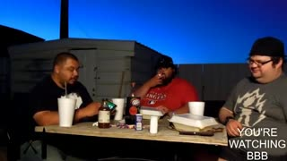Huge BJ's Burger Challenge! Yedy and Texas w/ StunBaton