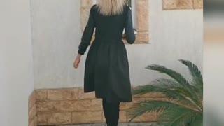 Winter Fashion Black Solid Elegant Knee Dresses review