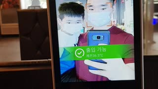 New Covid-19 temperature check system in Korean restaurants
