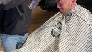 Barber Pulls Powdery Prank
