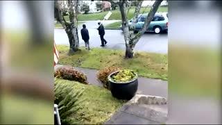 Antifa thugs attack woman in Olympia, Washington