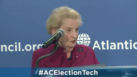 Madeleine Albright at the Atlantic Council in Washington DC 2015