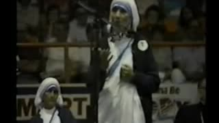Blessed Mother Teresa of Calcutta visit to Canada I, speaks about abortion