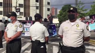 Protesters Taunt Kamala Harris in Guatemala with 'Trump Won' Sign