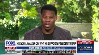 Herschel Walker and Lou Dobbs Defends Donald Trump