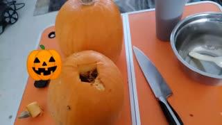 Making pumpkin peree