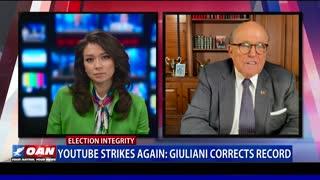 YouTube Strikes Again: Giuliani Corrects Record